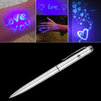 2018 creative Magic LED UV Light Ballpoint Pen with Invisible Ink Secret Spy Pen