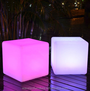 Hot sale Waterproof plastic remote control light led cube chair 40 cm led sitting cube