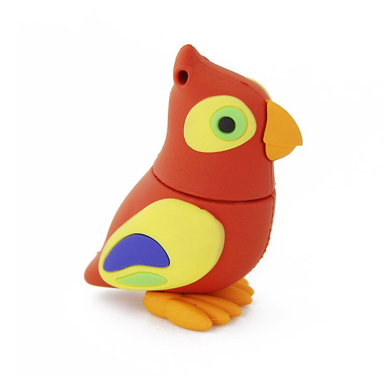 creative products and gifts hot seller pvc cute cartoon figure birds usb 2.0