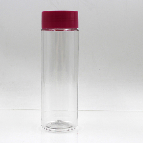 China supplier custom clear empty PET 200ml 150ml plastic bottle for juice with red cap