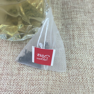 Empty Heat Sealing Nylon Pyramid Tea Filter Bags for Loose Tea (100)