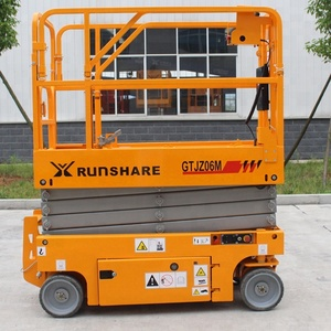 Self-propelled four wheel scissor lift Hot Sale Mobile Scisor Lift