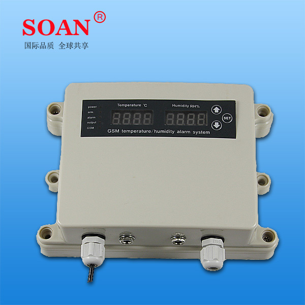 gsm temperature humidity control unit with sms monitoring, setting, informing