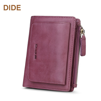 DIDE OEM Custom Minimalist Wallet Genuine Leather Card Holder Women Custom Wallet for New design