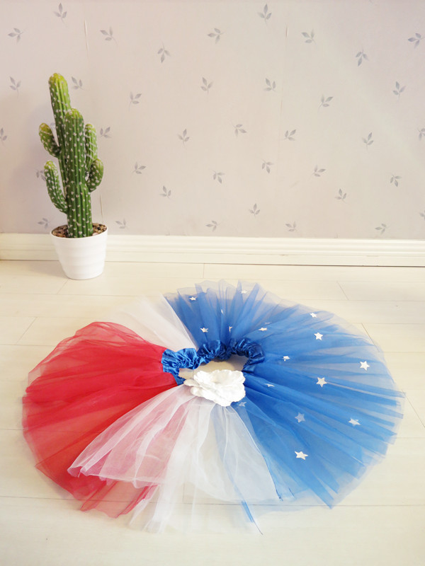 rainbow tutu skirts American national day party tutu skirts