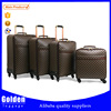 16 18 20 24 inches PU leather waterproof travel trolley luggage high end business trolley luggage