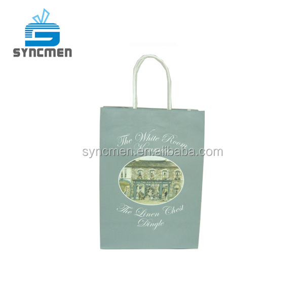 Taiwan Personalizzato Riciclabile Kraft Shopping Bag di Carta