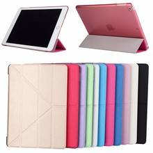 hot selling silk print magnetic folding tablet cover case for iPad 9.7 2017