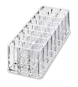 Clear Acrylic Lipgloss Holder Organizer Beauty Makeup Holder | 24 Space Organization Container Storage