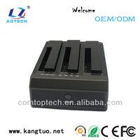 2.5/3.5 inch all in one hdd docking station,support 3 bays sata ports Support clone function