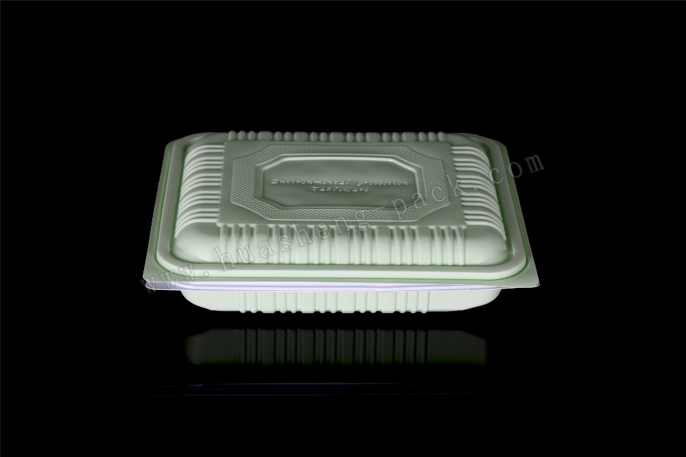 4 compartment PP material tableware lidded disposable lunch box