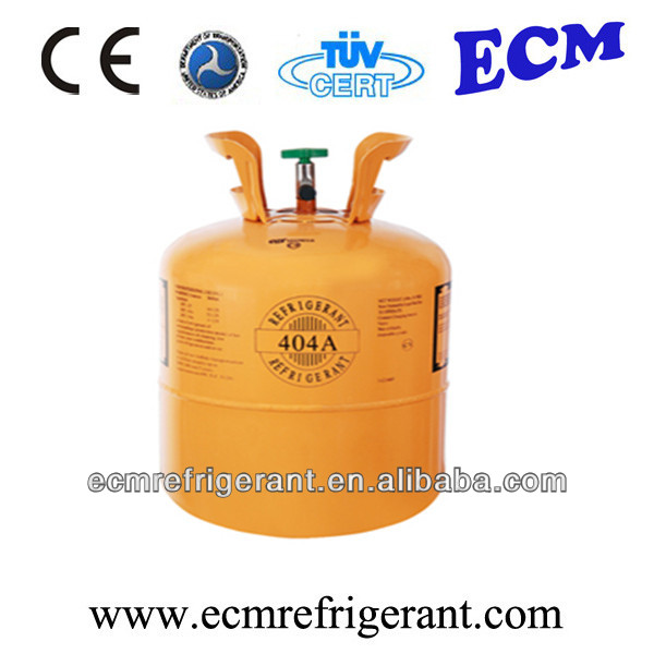 Refrigerant gas r404a Disposable steel cylinder 10.9kg/30b; recyclable steel cylinder 750kg/926L.