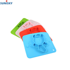 FDA Food Grade Silicone Feeding Plate Dishes Plate for Kids