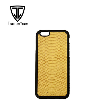 Waterproof Fashion Customized Logo Genuine Python Leather Mobile Phone Case for iphone 6s