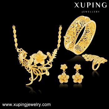 Xuping Imitation 24k Dubai Gold Jewelry Big Costume Jewelry Sets