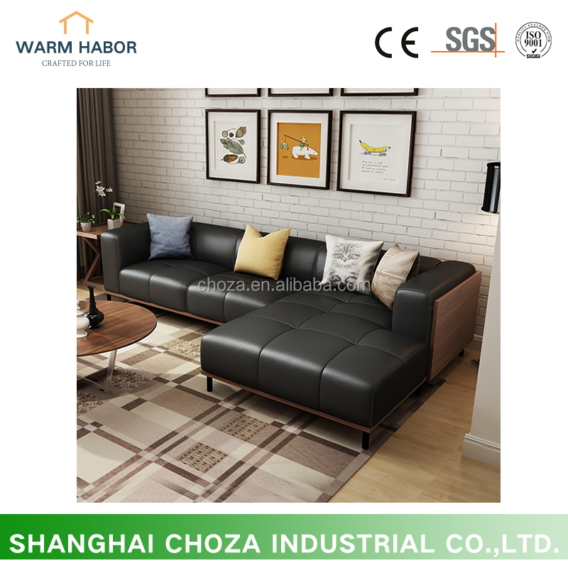 F41170A-1 Simple style seating sofa living rom furniture modern leather sofa