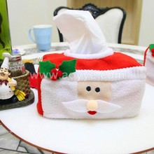 Wholesale creative top quality elegant custom folding christmas gift cloth decorations tissue boxes