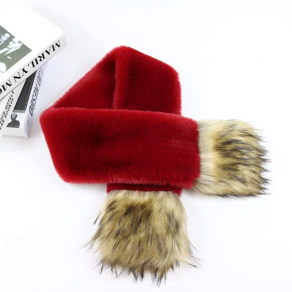 Fur Rabbit Fur Collar Stitching Scarf Ladies Autumn Winter Imitation Fox Fashion Warm Solid Color Scarf