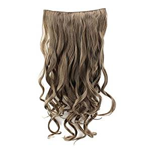 "Hairpieces Wavy - TOOGOO(R) Women 28"" Dark Blonde Wig 3/4 Full Head Wave Curly Hairpieces Clip Synthetic Hair Extensions Wavy Wigs #6/27/613 (Size: 28"", Color: Dark blond)"