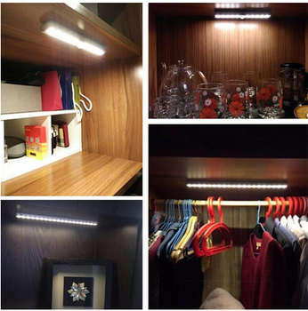 FORECUM Brand Portable Stick On PIR Motion Sensor LED Closet Light Cabinet  Lights Part 86