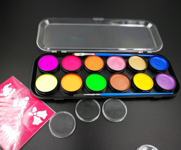 Gesicht malen 12 Farbe, 30 Schablonen, 2 bürsten | Beste Wert Gesicht Malen Set für Kinder | Lebendige Wasser Basierend Non-Toxischen FDA