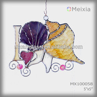 MX100058 tiffany style lead camed stained glass suncatcher for wholesale