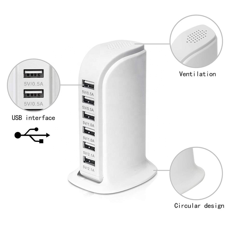 Alibaba.com / 30w 5V 6A 6 Port USB Sailboat device Wall Charger Power Adapter for Mobile Phone Travel Charger USB charging station