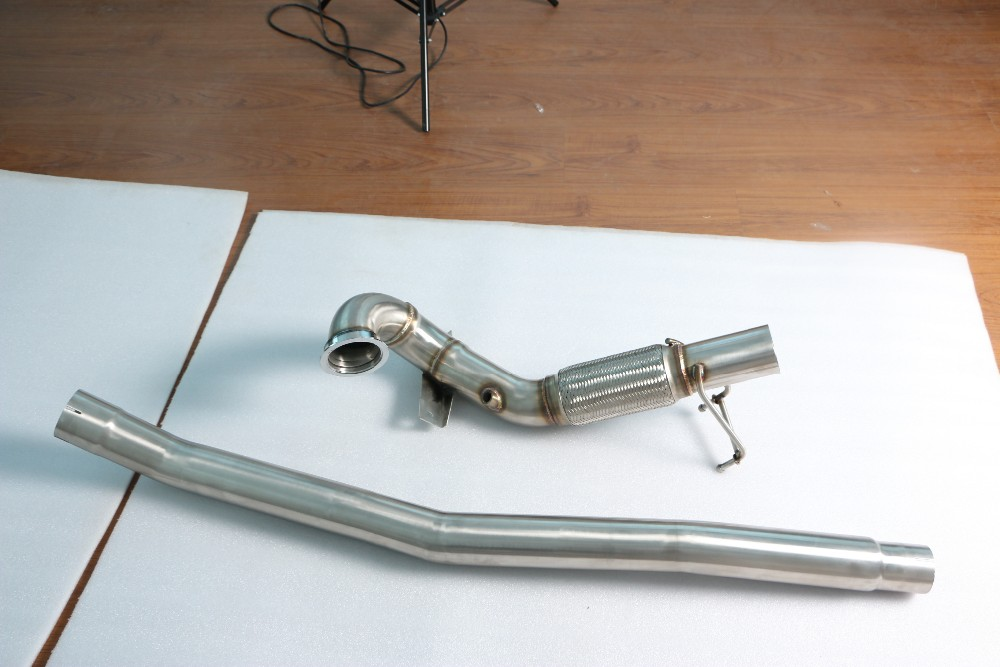GRWA Performance Stainless Steel Thickness 1.5 mm Exhaust Downpipe for MK7
