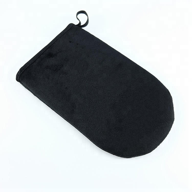 Reusable Velour Self Tanning Applicator Mitt, Brown;black;pink;green;customized color available
