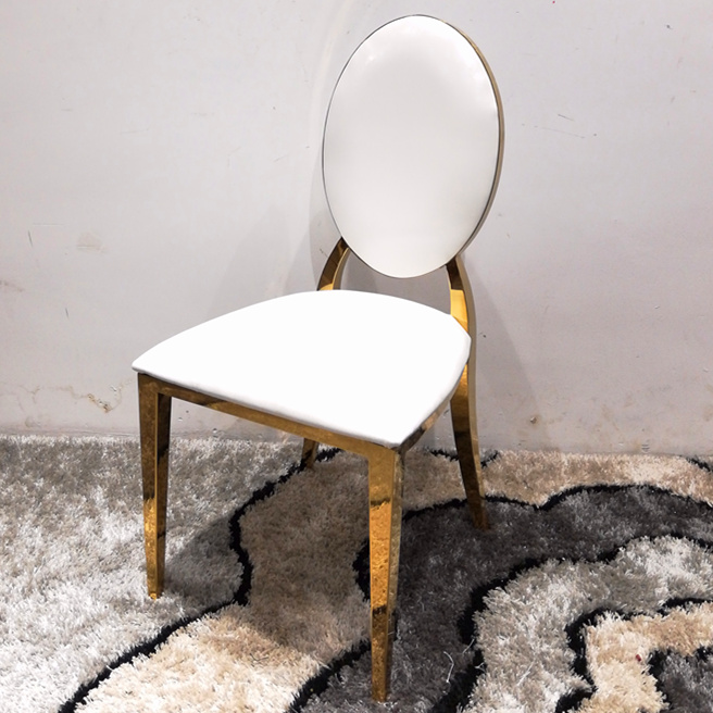 Goud Luxe electroplated rvs wedding stoelen banket stoel
