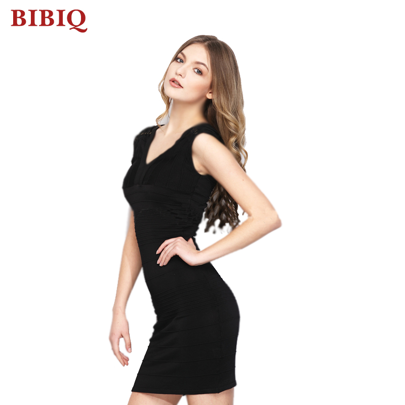 2017 Cheap Hot Sale Black Casual Bandage Mini Short Dresses