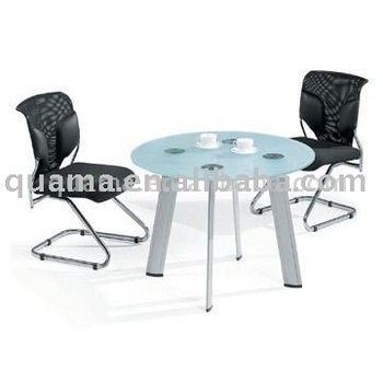 China manufacturer hot sale Glass Meeting table conference table chatting table