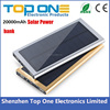 2017 New arrival luxury aluminum super slim solar power bank charger 20000mah for all mobile phones