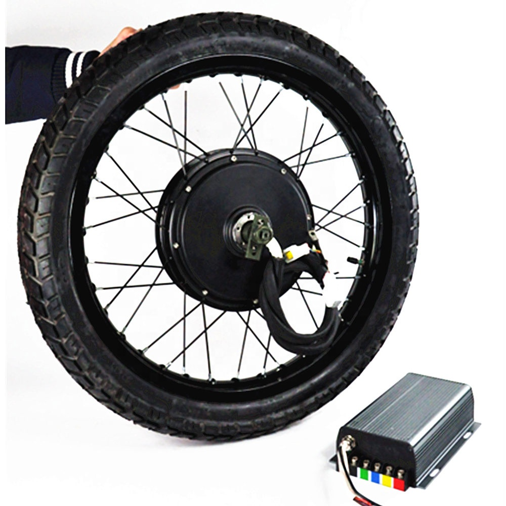High speed 100km/h 72v 5000w rear wheel hub dc motor e bike conversion kit 5000w