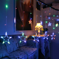 10 stars 138 led curtain string lights factory outlets led big star curtain christmas light wholesale