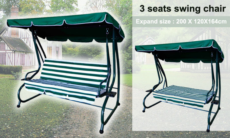 3 person seater patio swing chair patio swing chair bed rocking chair bed  garden hanging chair