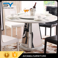 steel base dining table with high quality CT016