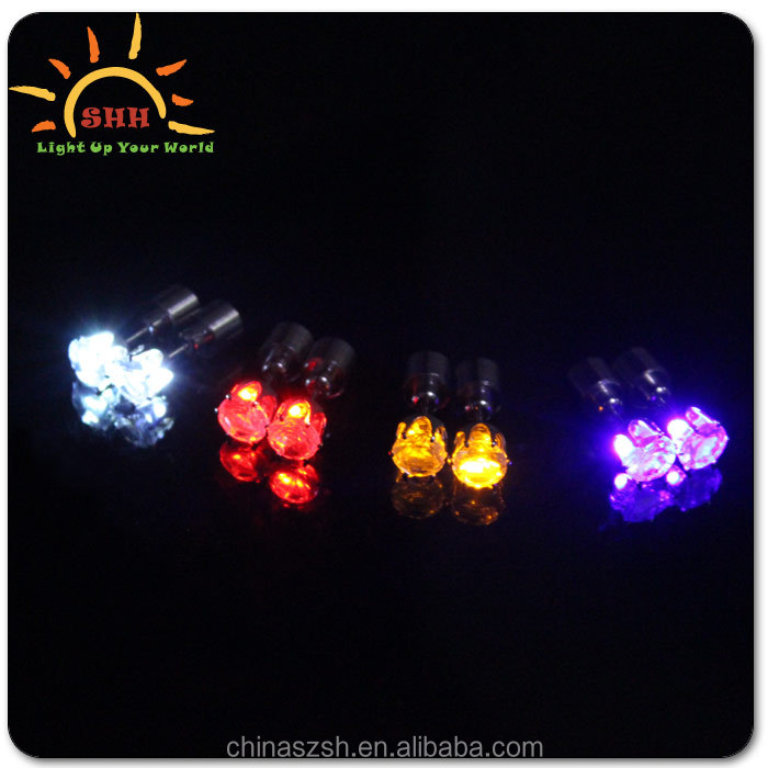 Light up earrings flashing ear ring led earring for wedding party