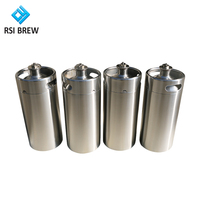 Stainless Steel Beer Keg 2L 4L 5L 10L Mini Draft Beer Growler Beer Barrels for Sale