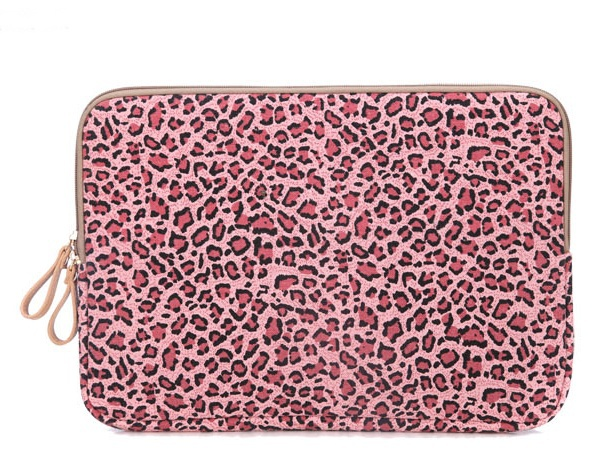 Fashion Laptop Sleeve 13.3,Red Leopard laptop Case 13.3 inch, Canvas laptop bag for women Netbook Case FreeShipping
