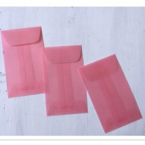 Translucent Pink Vellum Mini Envelopes