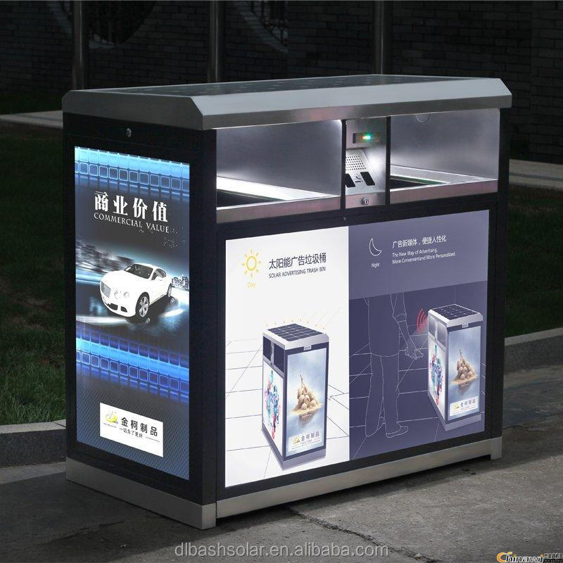 Solar power smart dustbin with Advertising