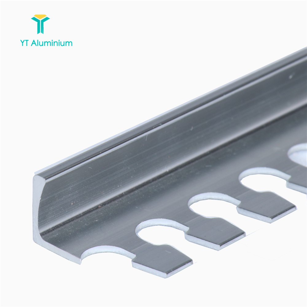 Polished And Anodized Square Shaped Trim Metal Strip Fireproof Aluminum  Corner Tile Edge Trim, View tile trim, yutian Product Details from Foshan