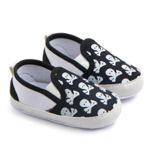 New arrival wholesale skull sign baby toddler shoes