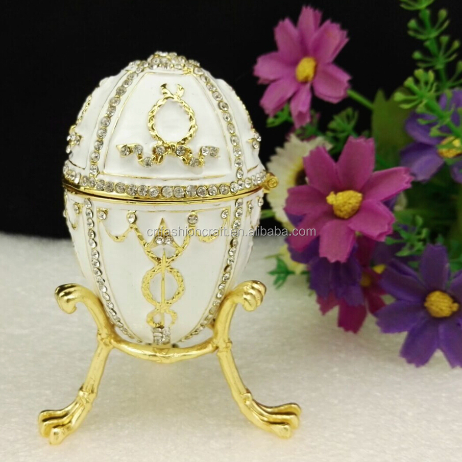 white color Egg Shape jewelry gift boxes Faberge egg/wedding gift Easter egg