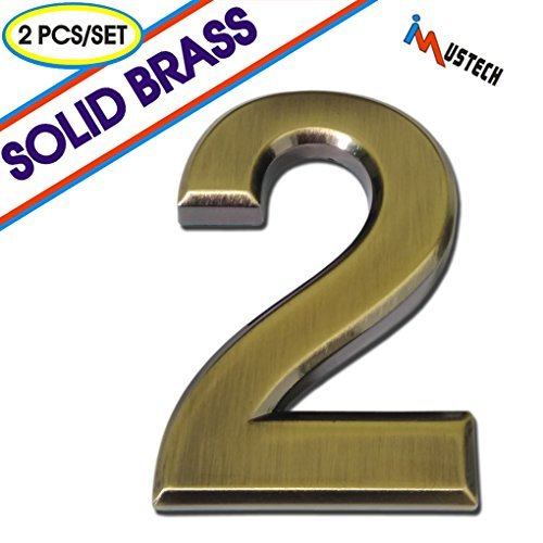 Get Quotations Imustech Mailbox Numbers 2 Pcs Set Solid Self Stick Number For