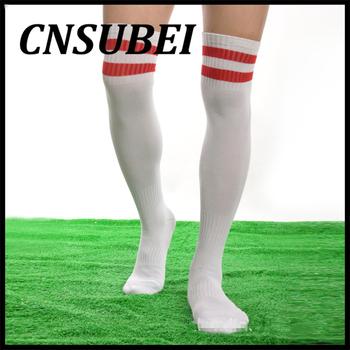 31f512021 Women Men Unisex Athletic Stripe Sports Soccer Football Running Knee High  Tube Socks