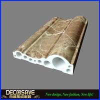 Decorative Faux Marble Stone Moulding Hollow Plastic Profile decorative door frame