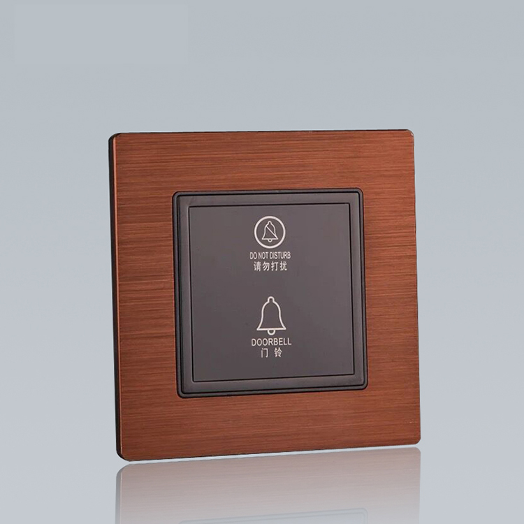 Custom wholesale doorbell pushbutton switch do not disturb switch with doorbell