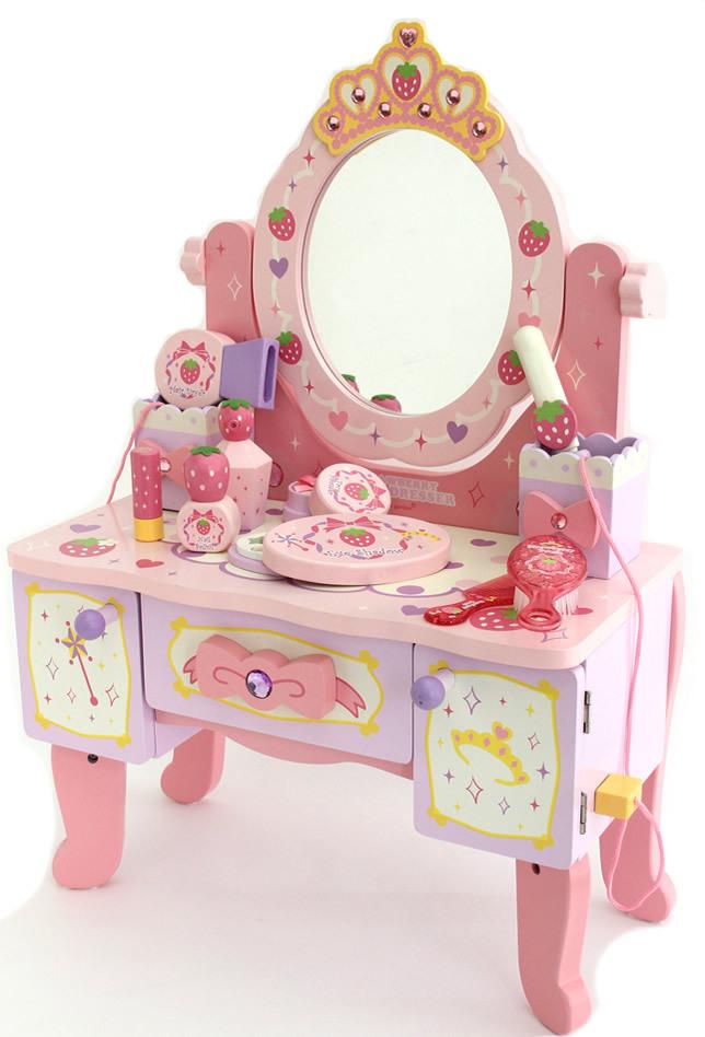 baby spielzeug erdbeere mutter garten klassische simulation schminktisch m dchen. Black Bedroom Furniture Sets. Home Design Ideas